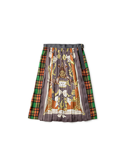 Merry melodies tartan check pleats skirt