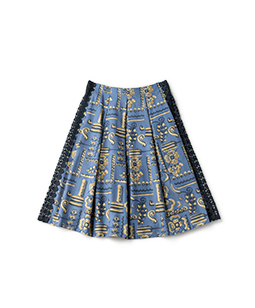 Victorian wallpaper tuck skirt