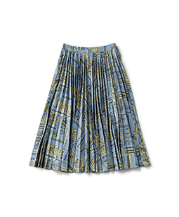Victorian wallpaper flare pleats skirt