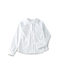 Tiny ruffle collar shirt