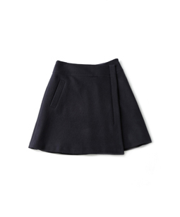 Soft melton wrap skirt
