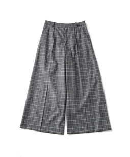 British check baggy pants