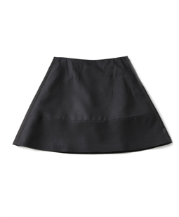 Cashmere blend flannel satin cocoon skirt