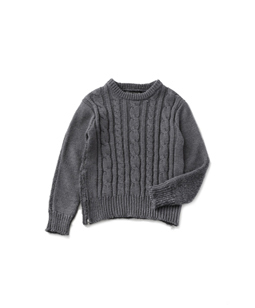 Bulkyyarn and mohair Fisherman sweater