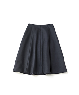 Brushed melton bell skirt
