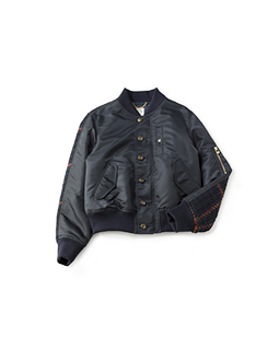 Material mix flight jacket