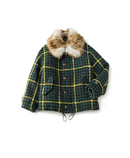 Roving check field coat