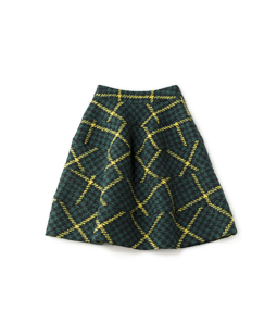 Roving check dirndl skirt