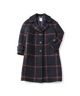 Roving check grandma coat