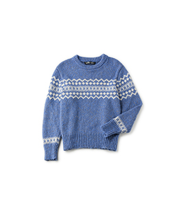Brushed yarn nordic sweater