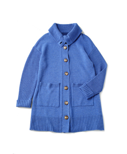 Knit crosscollar coat