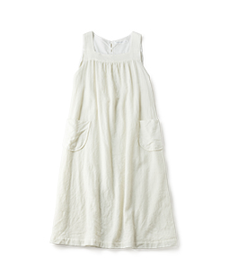 Wool gauze tablier dress