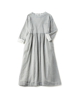 Wool gauze refine dress