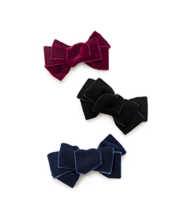 Velvet ribbon hair accessory