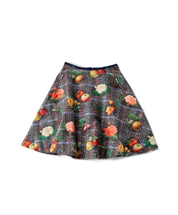 Fantasia Tweed flare skirt