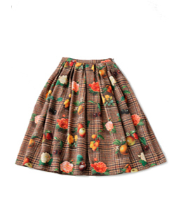 Fantasia Tweed cattle tuck skirt