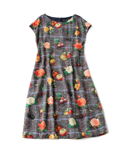 Fantasia Tweed cocoon dress