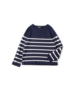 Ribbon border marine sweater