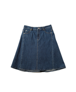 Slab denim 2face skirt