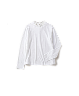 Soft T-cloth lace collar pullover