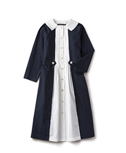 Material MIX coat dress