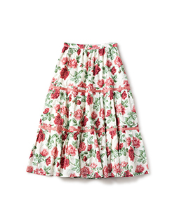 Climbing rose tiered skirt