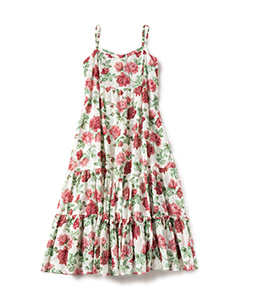 Climbing rose tiered dress