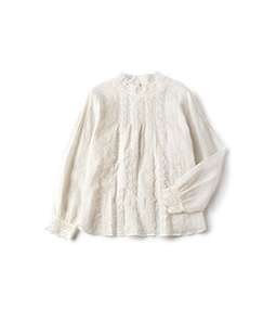Organdy and lace victorian blouse