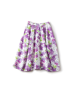 Water flower cocoon skirt
