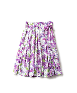 Water flower 2 face skirt