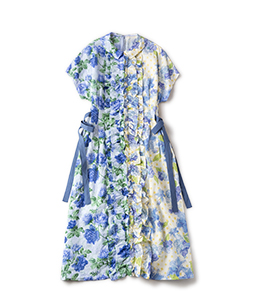 Climbing rose and Water flower dress