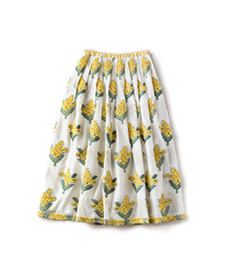 Mimosa jacquard long skirt