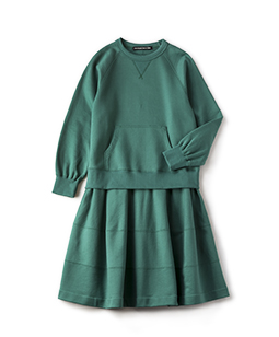 Clear fleece sweat shirt dress
