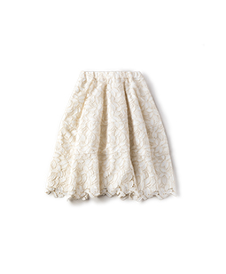 Leaf lace cocoon skirt