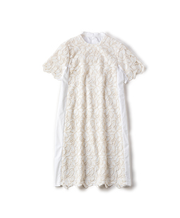 Leaf lace and broad cloth 2 face dress